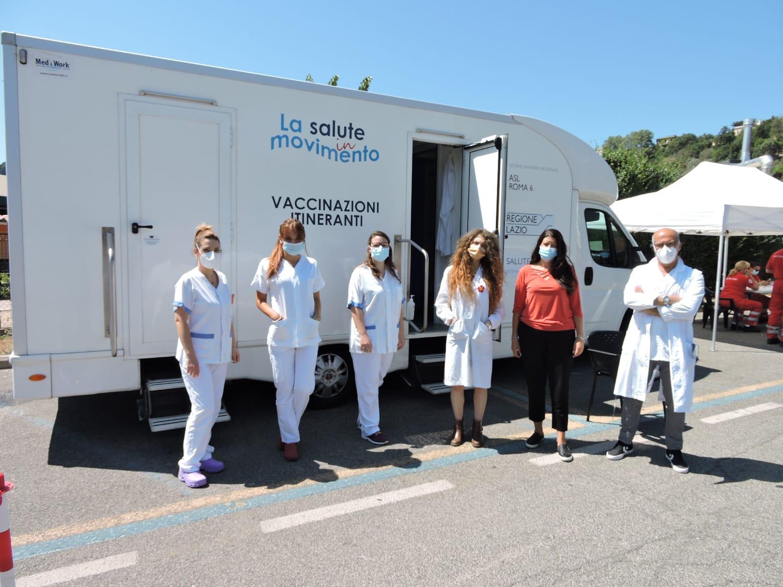 Castel Gandolfo, continua il tour del camper vaccinale itinerante