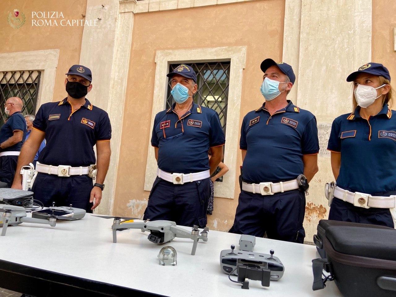 Roma, l'equipaggiamento della Polizia Locale si rafforza con i droni