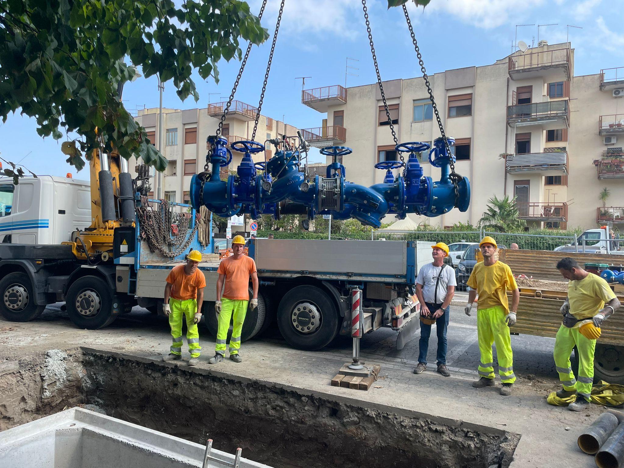 Ciampino, su Via Mura dei Francesi grande intervento Acea Ato 2: installata seconda camera di manovra