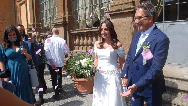 Frascati-Monte Porzio Catone, a Villa Mondragone il matrimonio del senatore Bruno Astorre con Francesca Sbardella