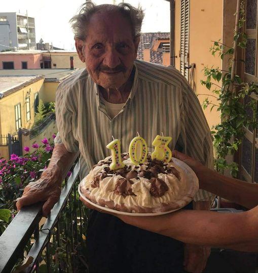 Albano, nonno Alfredo Sardilli compie 103 anni