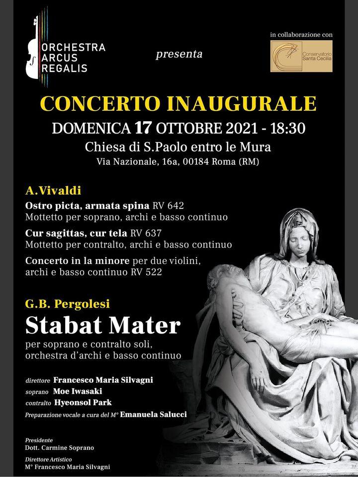 Roma, Primo concerto dell'Orchestra Arcus Regalis nella chiesa di San Paolo entro le Mura