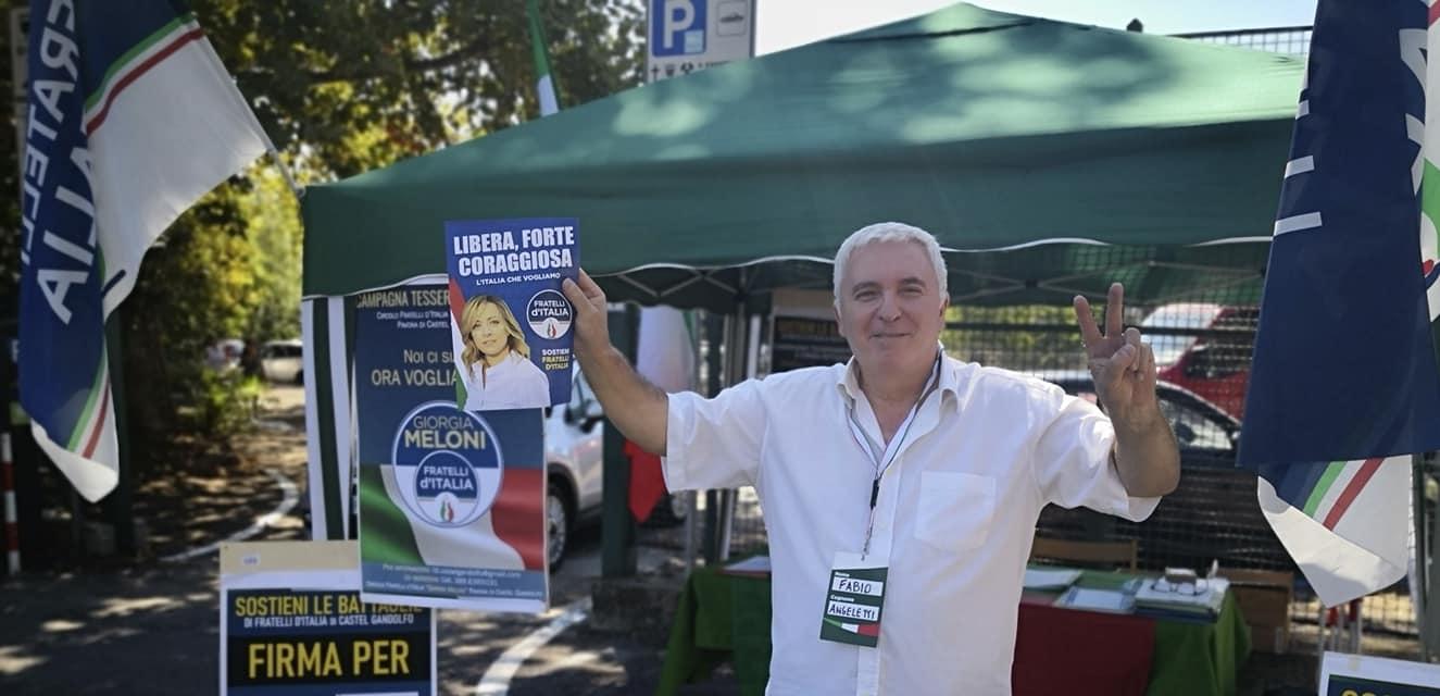 """Castel Gandolfo, Angeletti (FdI): """"No alla violenza. Riappropriamoci del voto!"""