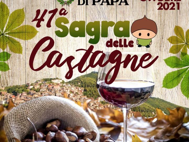 Rocca di Papa, 15-17 ottobre torna la Sagra delle Castagne
