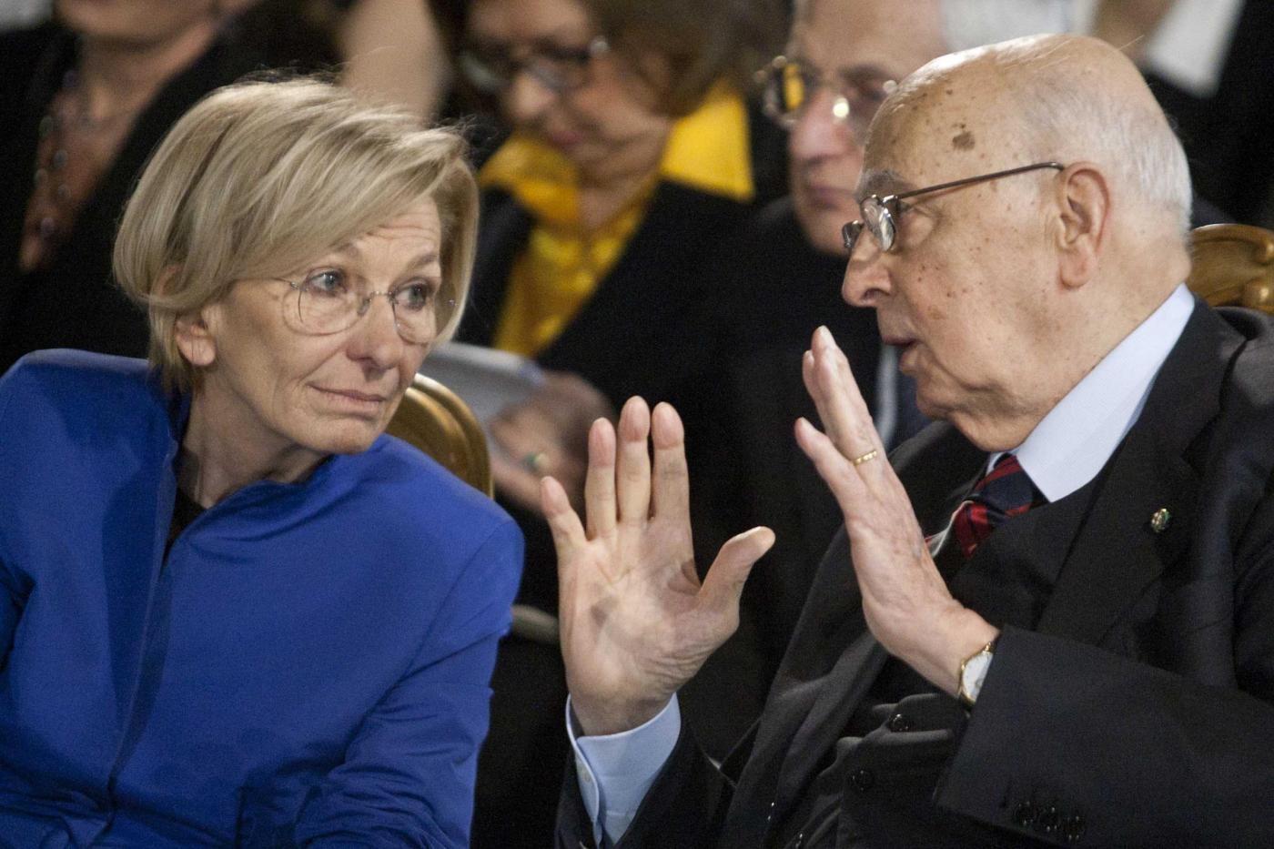 Il ministro Bonino con il presidente Napolitano