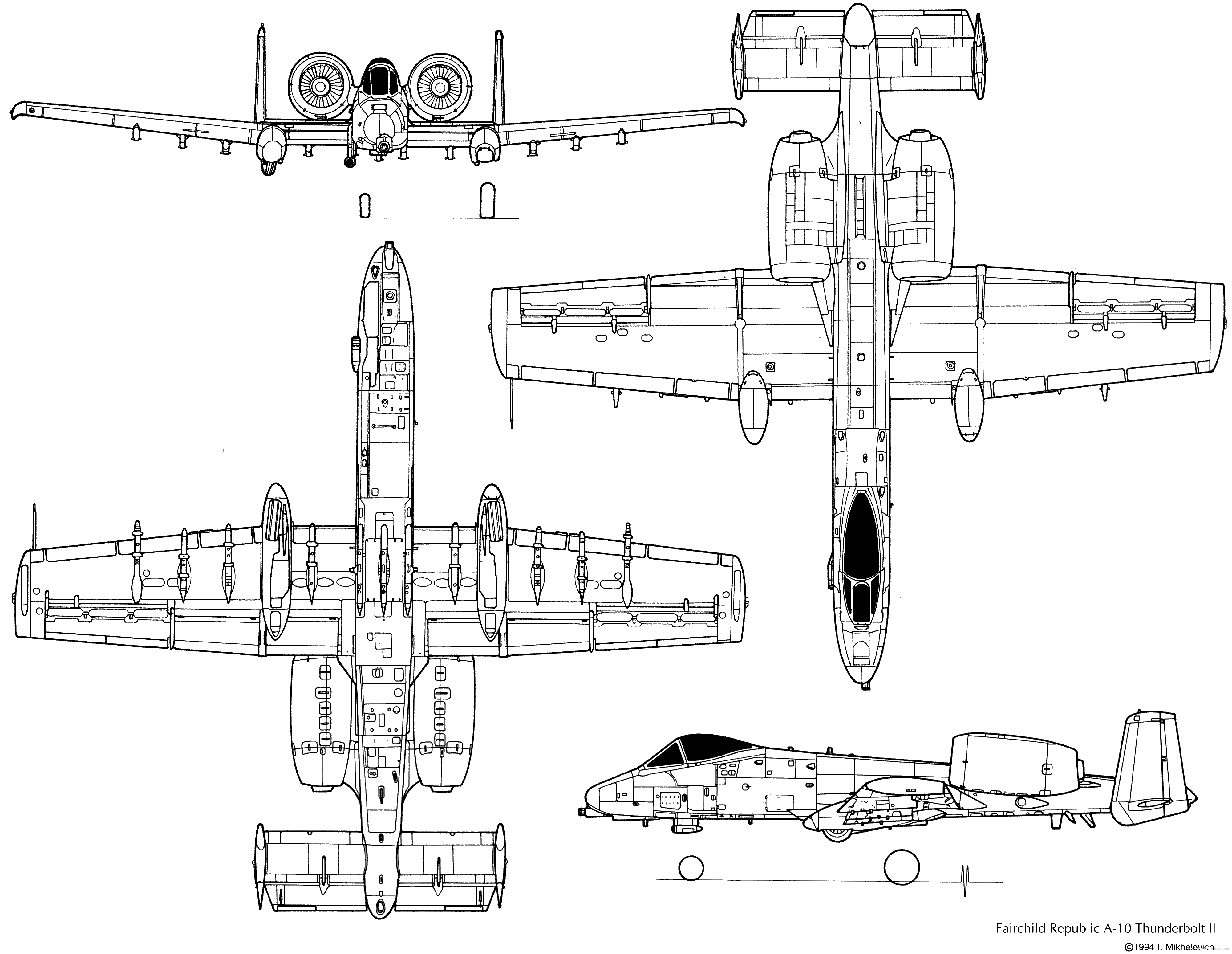 A 10 Warthog Model Schematics