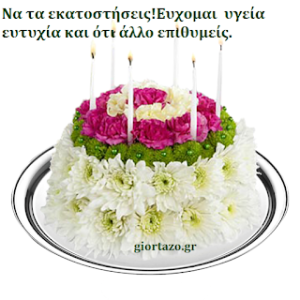 Eυχές γενεθλίων σε εικόνες….giortazo.gr
