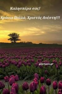 Καλησπέρα! Χρόνια Πολλά, Χριστός Ανέστη!!!