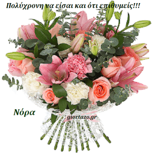 Read more about the article Νόρα Χρόνια Πολλά!………giortazo.gr
