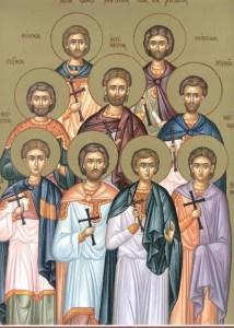28 Απριλίου  Των Αγίων εννέα Μαρτύρων των εν Κυζίκω μαρτυρησάντων, Μέμνονος του Θαυματουργού, Αυξιβίου
