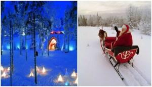 Ροβανιέμι: Το «μαγικό» χωριό του Άγιου Βασίλη έβαλε τα γιορτινά του και οι εικόνες είναι εντυπωσιακές