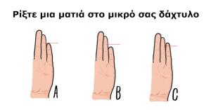 Το Μέγεθος Του Μικρού Δαχτύλου Του Χεριού Σας, Φανερώνει Πολλά