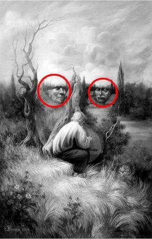 δύο πρόσωπα ανάμεσα στα σύννεφα