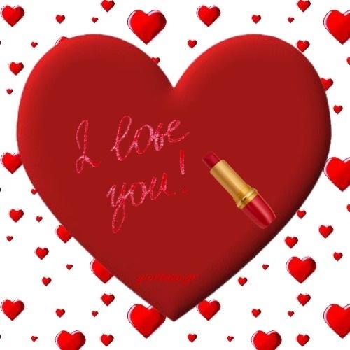 Στείλτε όμορφες εικόνες αγάπης με καρδιές και λουλούδια