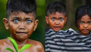 Φυλή Σε Νησί Της Ινδονησίας Έχει Εκτυφλωτικά Βαθιά Γαλάζια Μάτια