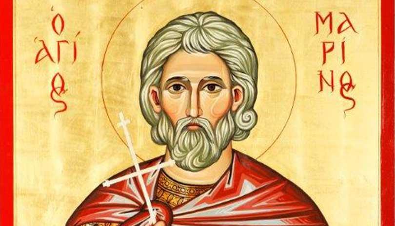 Read more about the article Ο Άγιος Μαρίνος ο Γέρων γιορτάζει σήμερα 18 Οκτωβρίου