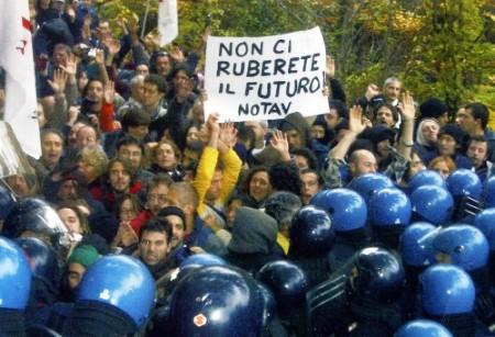 Solidarietà agli arrestati No TAV