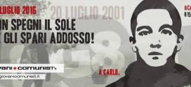 I/Le Giovani Comunisti/e oggi in Piazza Alimonda, per non dimentiCarlo!