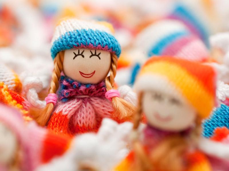 Quanto sono belle le bambole di pezza. Da comprare, ma anche da fare