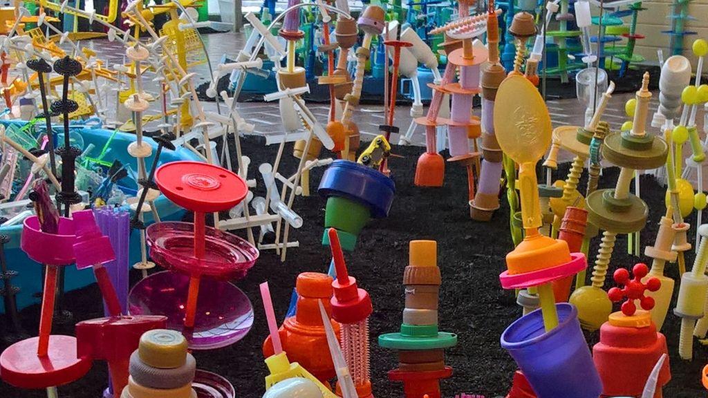 giardino di plastica