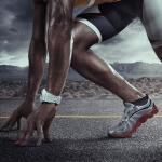 Atleta pronto per correre