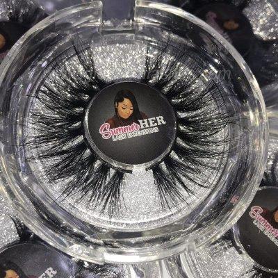 Custom mink lash boxes Eyelash Clear Case wholesale