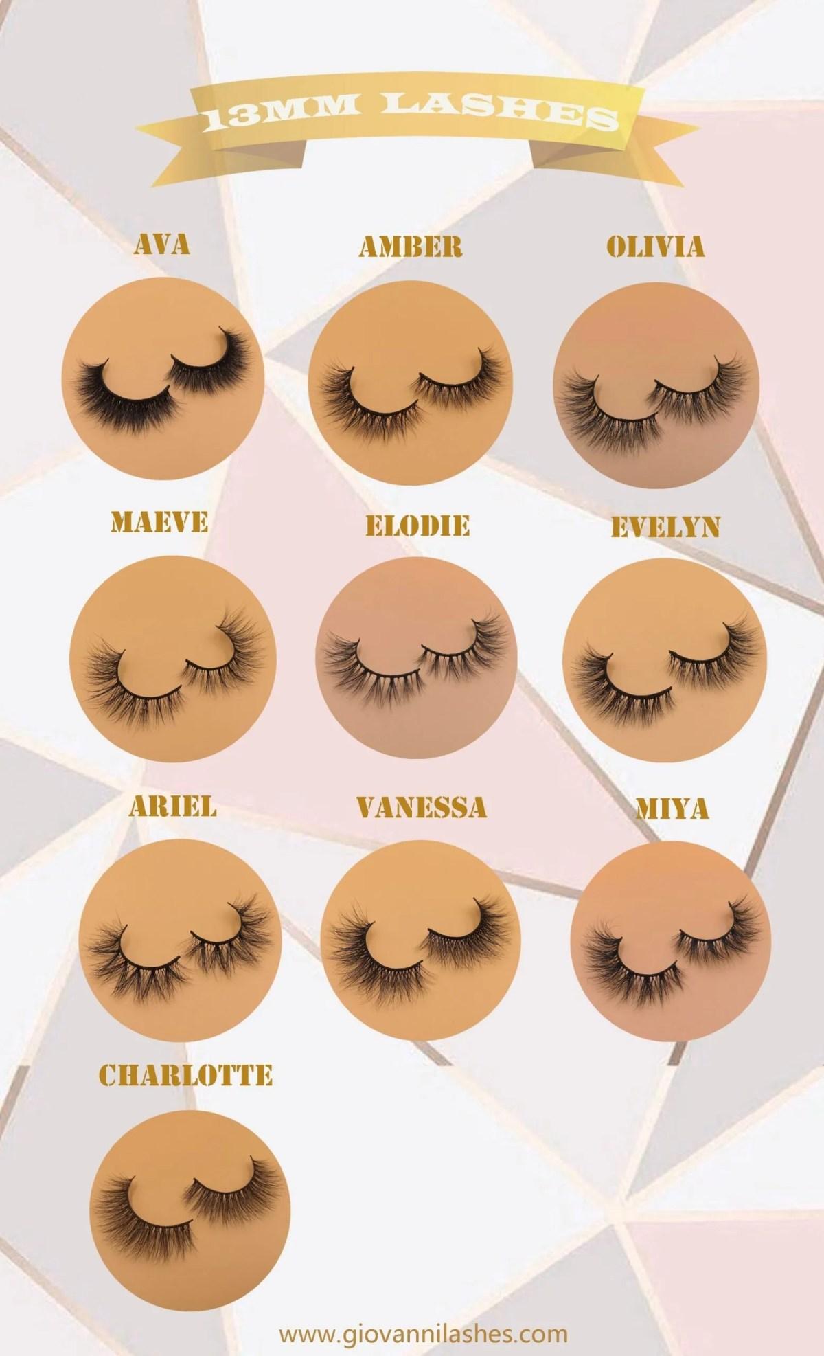 High quality lash strip 13mm mink lashes wholesale