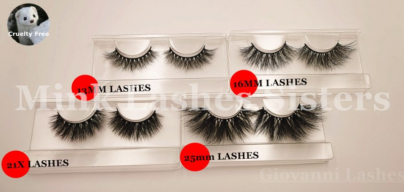 Giovanni Lashes provides high-quality eyelashes of 13mm mink lashes,16mm mink lashes, 21X mink lashes, 25mm mink lashes, and supports custom eyelashes, the best eyelash vendors wholesale usa