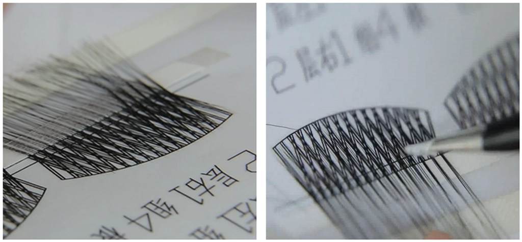 The first step in the production of Mink Lashes is the design drawings, and the workers will make luxurious mink eyelashes by hand according to the design drawings.
