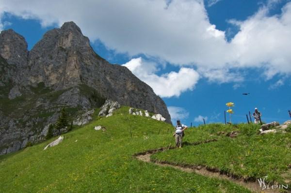 Abstieg vom Sabachjoch