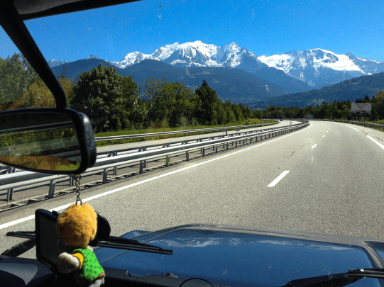 Auf dem Weg zum Mont Blanc