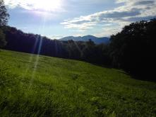 Die letzten warmen Sonnenstrahlen über den Almwiesen