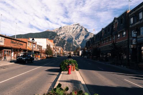 Die Hauptstraße von Banff