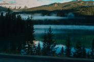 Nebelschwaden in den Bergen