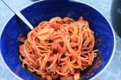 Pasta mit Fenchel und Salami