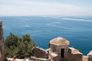 Aussicht von der Festung bei Porto Palermo, Albanien