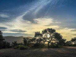 Sonnenuntergang über dem Brandberg, Namibia