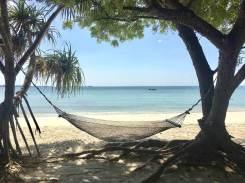 Hängematte am Strand von Kigamboni in Dar es Salaam Tansania