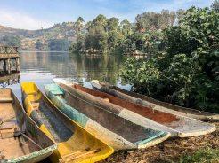 Uganda: Kanus am Lake Bunyoni