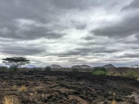 Lavafelder im Tsavo West