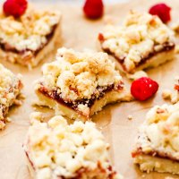 Jam Shortbread Cookie Bars {Gluten Free}