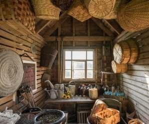 Un utile capanno per gli attrezzi di legno