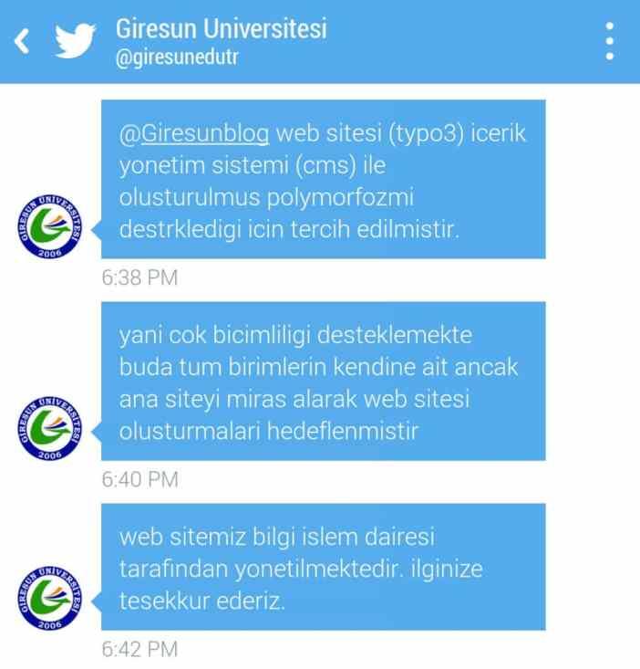 Giresun Üniversitesi Twitter Açıklama