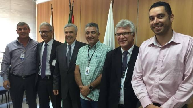 Giriboni, secretário Benedito Braga e prefeitos