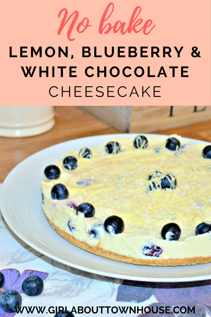 Lemon, Blueberry & White chocolate cheesecake