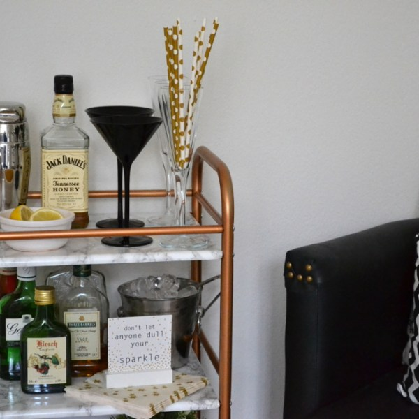 DIY Bar Cart - Girl about townhouse