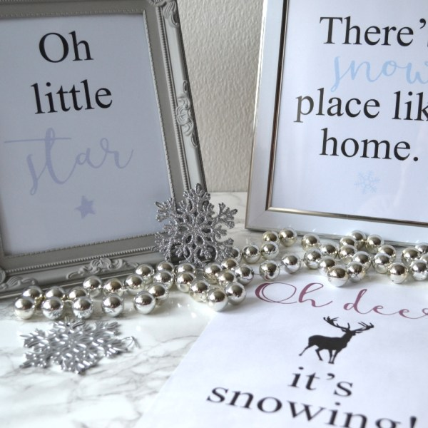 Festive free printables - Girl about townhouse