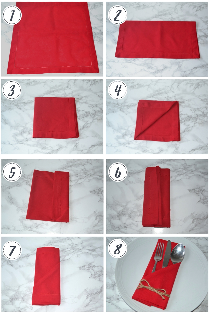napkin folding tutorial - Girl about townhouse