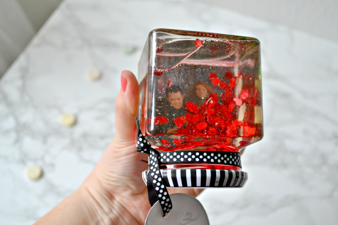 Valentine's DIY Photo Snow Globe - Girl about townhouse