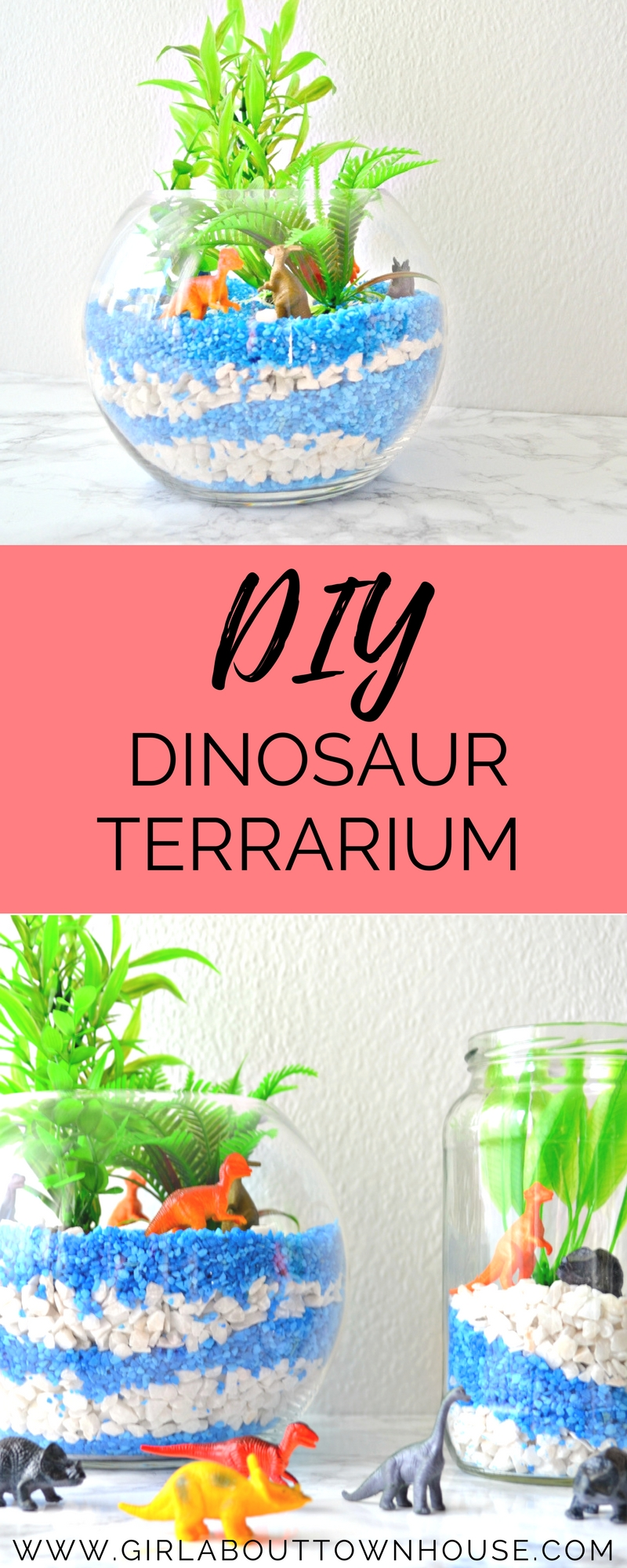 Dinosaur Craft Diy Terrarium Tutorial Girl About Townhouse